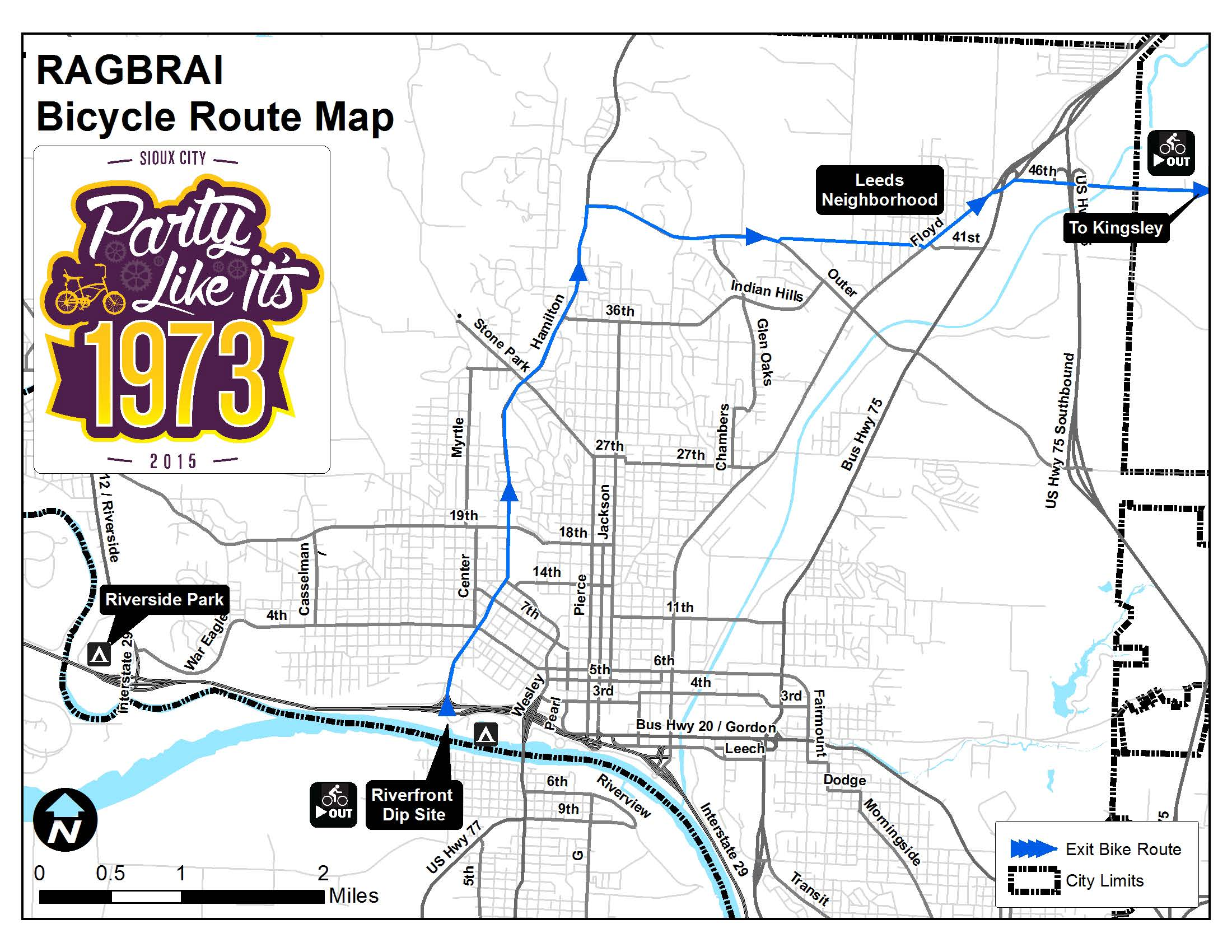 ragbrai riders to travel hamilton to outer drive, then east to leeds